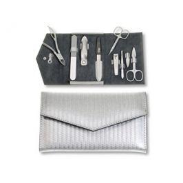 Credo Solingen Luxusní 7dílná manikúra ve stříbrném pouzdře Carbon 7