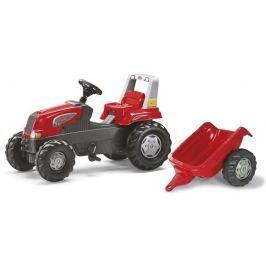 ROLLY TOYS Šlapací traktor Rolly Junior červený s vlečkou