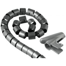 Hama trubice pro vedení kabelů, 2,5 m, 20 mm, stříbrná