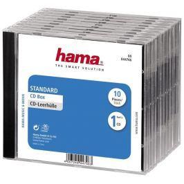 Hama CD BOX náhradní obal, 10ks/bal, transparentní/černá