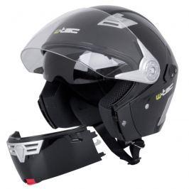 Moto helma W-TEC V220 Barva černá lesk, Velikost S (55-56)
