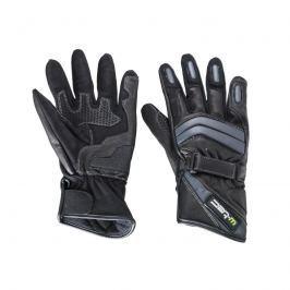 Kožené moto rukavice W-TEC NF-4134 Barva černo-bílá, Velikost S