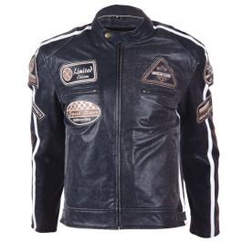 Kožená moto bunda BOS 2058 černá Barva černá, Velikost 3XL