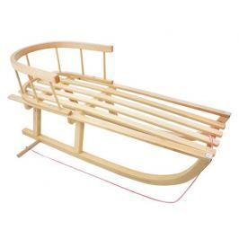 Dřevěné sáně KINGA s ohrádkou