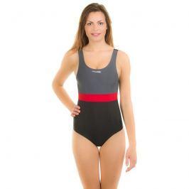 Sylwia dámské plavky 36;černá-červená
