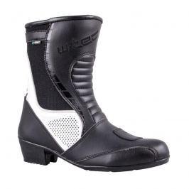 Dámské kožené moto boty W-TEC Beckie W-5036 Barva černo-bílá, Velikost 36