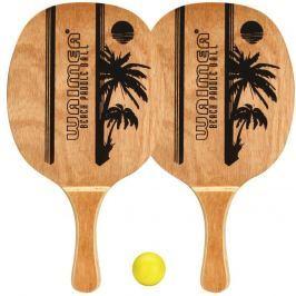 plážový tenis WG sada 2x pálka+míček růžová