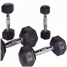 PROFI HEXA Jednoruční činky Bodysolid 2 x 1 kg 2 x 17,5 kg