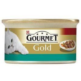 GOURMET GOLD kousky ve štávě LOSOS/KUŘE - 85g