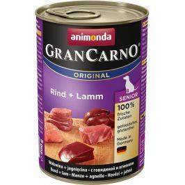 Animonda dog konzerva Gran Carno Senior hovězí/jehněčí - 400g