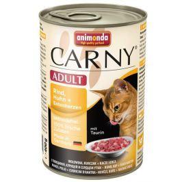 ANIMONDA cat konzerva CARNY hovězí/kuře/kachní srdce - 200g