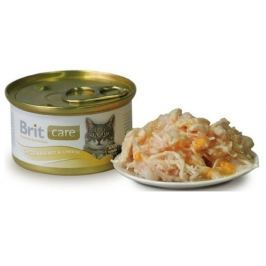 BRIT CARE cat konzerva 80g CHICKEN BREAST/CHEESE