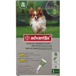 Advantix pro psy spot-on - od 4kg do 10kg