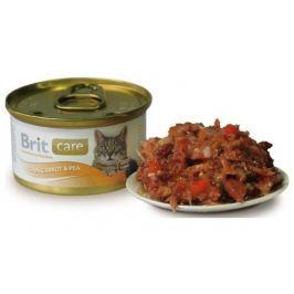 BRIT CARE cat konzerva 80g TUNA/CARROT/PEA