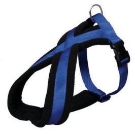Postroj (trixie) PREMIUM podšitý modrý - 1,5/30-40cm