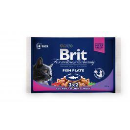 BRIT cat kapsa 4x100g - Rybí menu