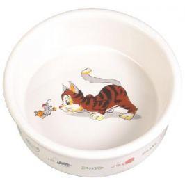 Miska (trixie) keramická BÍLÁ/kočka/myš 0,2/11cm