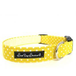 Obojek YELLOW polka DOT dolly - 17-28 / 2 cm