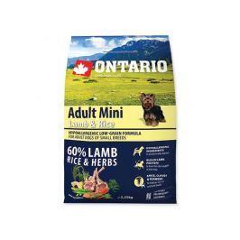 ONTARIO dog ADULT MINI lamb - 2,25kg