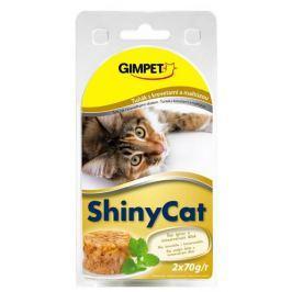 GIMPET SHINYcat TUŇÁK/mal.,krevety - 2x70g