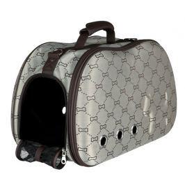Trixie kufřík SISSY béžovo-hnědý s kostičkami 20x31x50cm