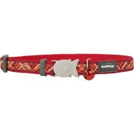 Obojek RD cat FLANNO red - 1,2/20-32cm
