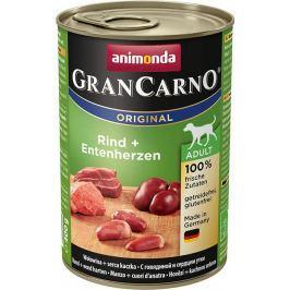 Animonda dog konzerva Gran Carno hovězí / kachní srdce - 400g