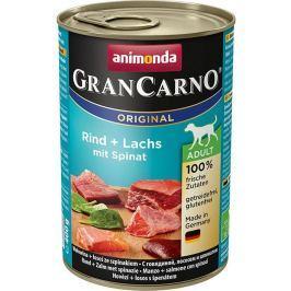 ANIMONDA dog konzerva Gran Carno hovězí/losos/špenát - 400g