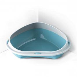 WC ARGI rohové s vys. okrajem modré - 58 x 48 x 20,5 cm