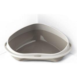 WC ARGI rohové s vys. okrajem šedé - 58 x 48 x 20,5 cm