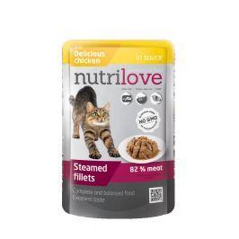 NUTRILOVE cat kapsa ADULT - ve šťávě 85g - KUŘECÍ
