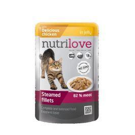 NUTRILOVE cat kaps. ADULT - želé 85g - KUŘECÍ