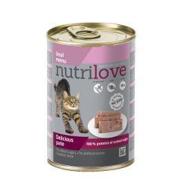 NUTRILOVE cat konz. paté - TELECÍ 400g (při koupi 10ks dostanete 2ks GRATIS)