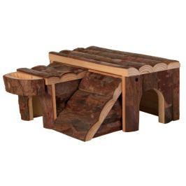 Dřevený domek LUKA pro křečka 14x7x14cm trixie