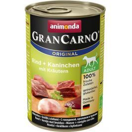 Animonda dog konzerva Gran Carno hovězí/králík/bylinky - 400g