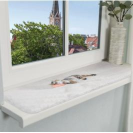 Podložka (obdélník) NANI na okenní parapety šedá - 90 x 28 cm Pelíšky a boudy pro psy