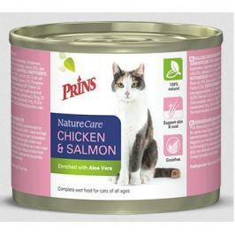 PRINS cat konz. CHICKEN/salmon - 200g Konzervy