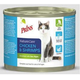 PRINS cat konz. CHICKEN/shrimps - 200g Konzervy