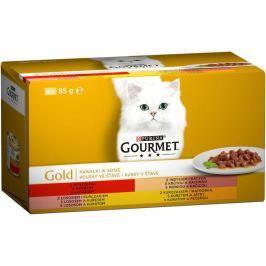 GOURMET GOLD 85g KOUSKY ve štávě - 4ks Krmivo a vitamíny pro kočky