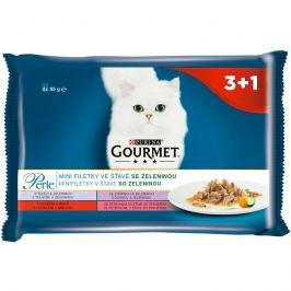 GOURMET PERLE cat 85g kapsa MINI FILETS / zelenina - 4ks