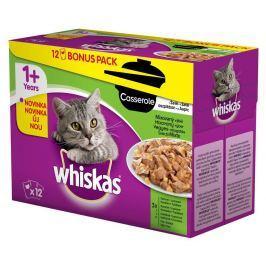 WHISKAS kapsa 12ks CASSEROLE v želé - MIX VÝBĚR Krmivo a vitamíny pro kočky