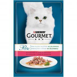 GOURMET PERLE 85g kapsa PSTRUH/ŠPENÁT Krmivo a vitamíny pro kočky