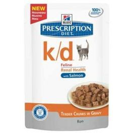Hills cat k/d kapsa/salmon 85g Krmivo a vitamíny pro kočky