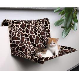 Odpočívadlo závesné plyšové motiv Žirafa 48x26x30cm Hračky pro kočky