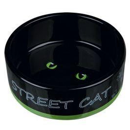 MISKA - keramická 0,3 l/12cm STREET CAT černá s očima