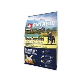 ONTARIO dog WEIGHT CONTROL MINI turkey - 2.25kg Krmivo pro psy