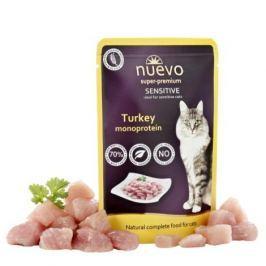 NUEVO cat kapsa SENSITIVE TURKEY - 85g Krmivo a vitamíny pro kočky