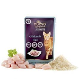 NUEVO cat kapsa STERILISED CHICKEN - 85g Krmivo a vitamíny pro kočky