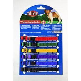 Trixie rozlišovací obojky pro štěňata 1cm/22-35cm / 6ks - růžová, světle modrá, ... Obojky pro psy