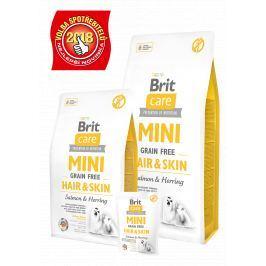 BRIT CARE dog MINI GF HAIR/SKIN - 400g